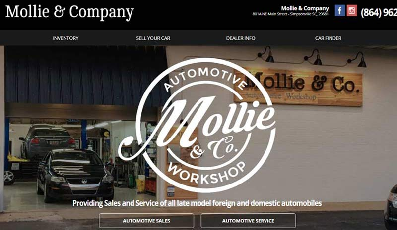 Mollie & Company Responsive Website